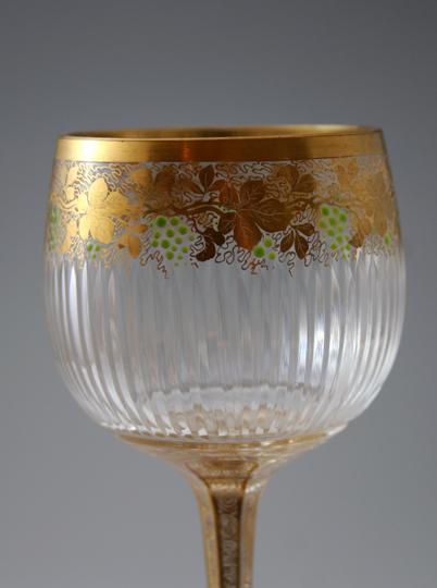 装飾ガラス「ぶどう文様 ワイングラス」