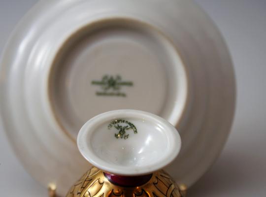 陶磁器「金彩花窓デミタスカップ」