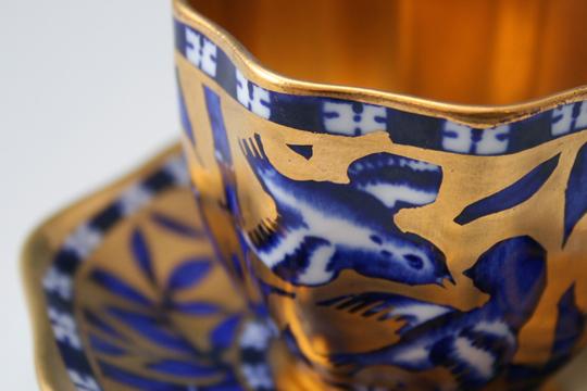 陶磁器「竹雀文様デミタスカップ」