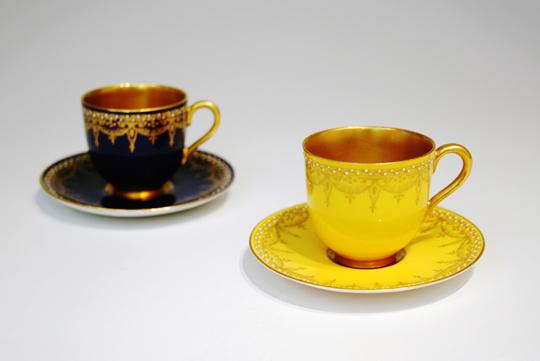 陶磁器「ジュール・金彩コーヒーカップ(黄色)」