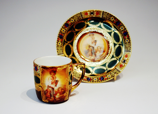 陶磁器「子供文様コーヒーカップ」