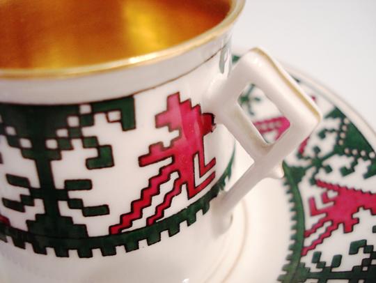 陶磁器「編み紐文様 コーヒーカップ」