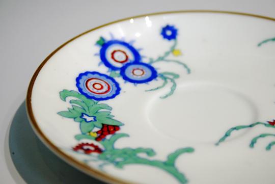 陶磁器「花唐草文コーヒーカップ」