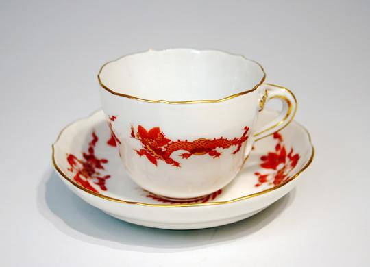 陶磁器「龍・鳳凰文コーヒーカップ」