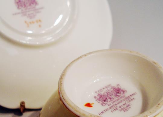 陶磁器「花柄ティーカップ」