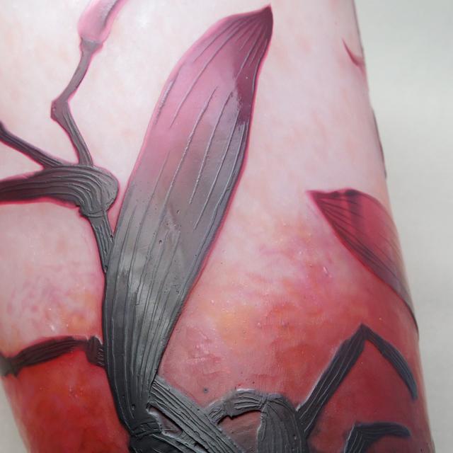 アールヌーヴォー「カトレア文 花瓶」
