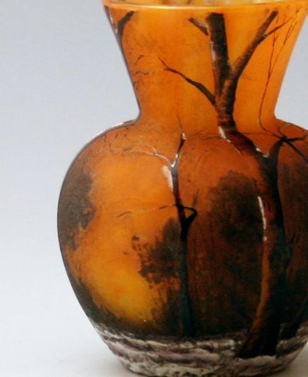 アールヌーヴォー「冬景色小花瓶」