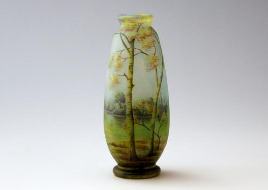 アールヌーヴォー「夏景色文小花瓶」