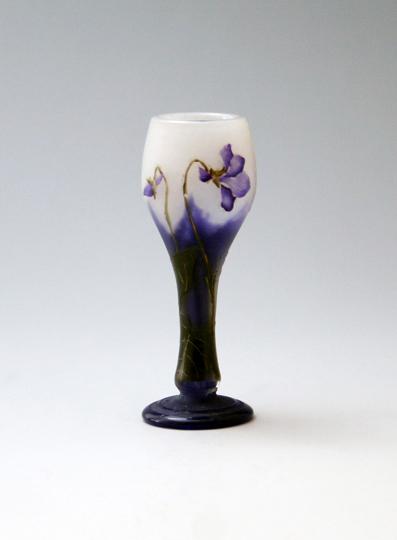 アールヌーヴォー「すみれ文小花瓶」