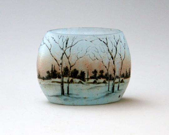 アールヌーヴォー「冬景色 花瓶」