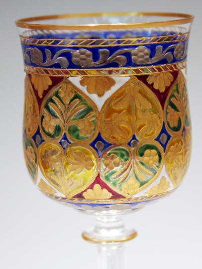 装飾ガラス「イスラム文様ワイングラス」
