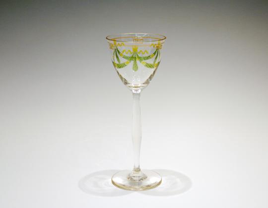 グラスウェア「エナメル装飾 ガーランド文 ワイングラス」