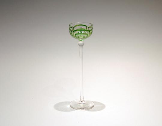 装飾ガラス「幾何学文様リキュールグラス」