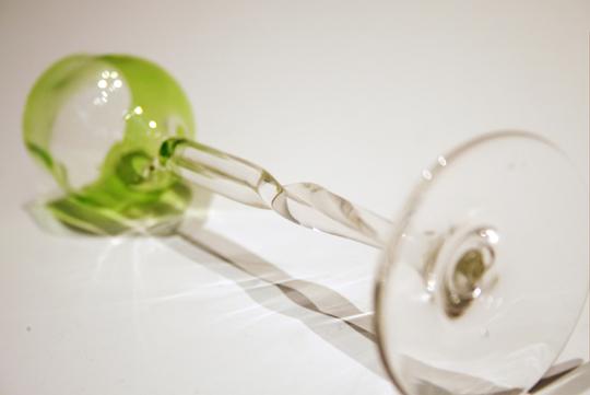 装飾ガラス「ツイストステムリキュールグラス」