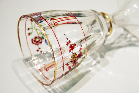 装飾ガラス「エナメル彩シノワズリグラス」