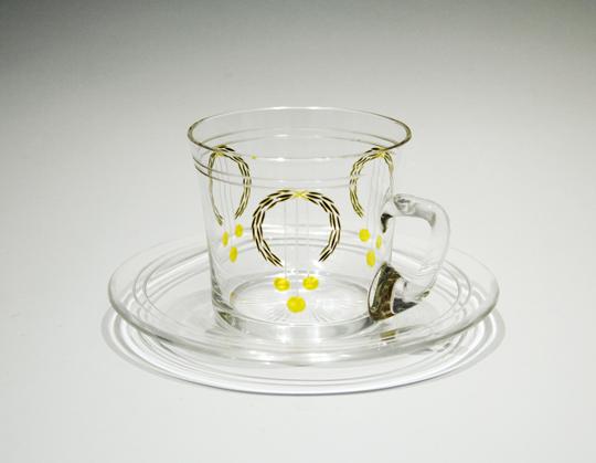 装飾ガラス「ガラス カップ&ソーサー」