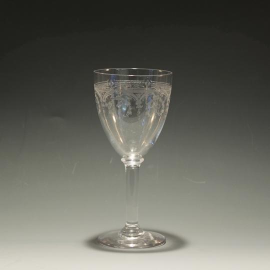 グラスウェア「レース文ポートワイングラス」