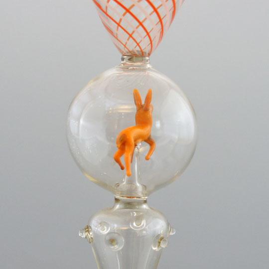 装飾ガラス「動物フィギュア入りグラス」