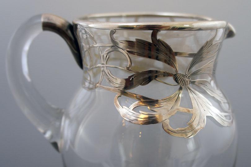 グラスウェア「花柄ピッチャー」