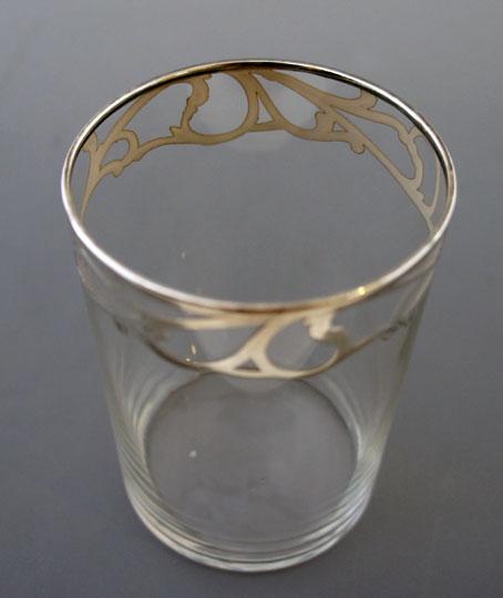 グラスウェア「シルバーオーバレイ ゴブレット」