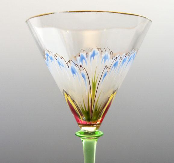 装飾ガラス「花文様グラス」