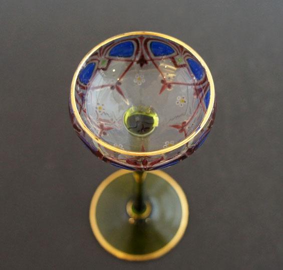 装飾ガラス「アールヌーボー装飾リキュールグラス」