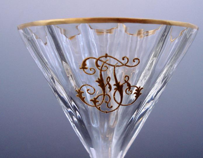 グラスウェア「イニシャル入り金彩グラス」