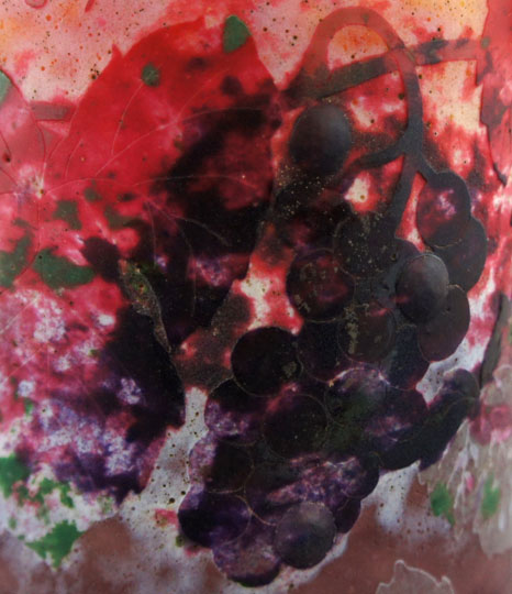 アールヌーヴォー「蒲萄とカタツムリ文花瓶」