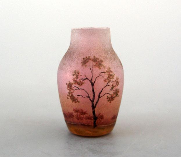 アールヌーヴォー「樹林文ミニチュア花瓶」