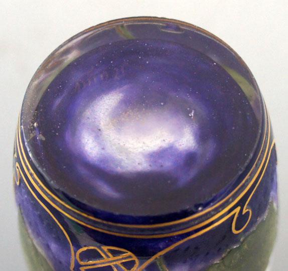 アールヌーヴォー「スミレ文花瓶」