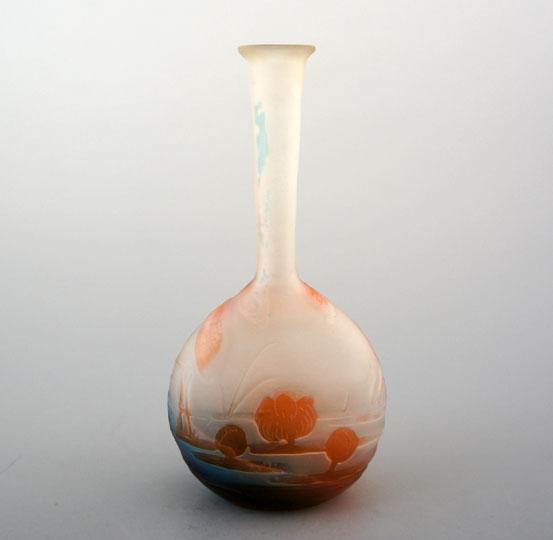 アールヌーヴォー「蜻蛉文つる首花瓶」