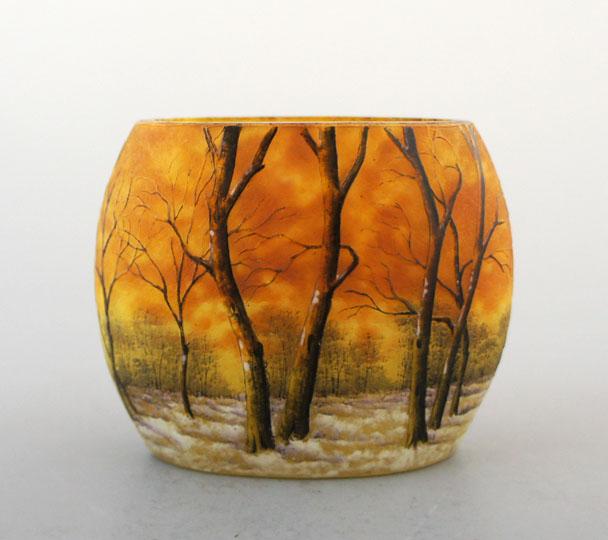 アールヌーヴォー「冬景色花瓶」