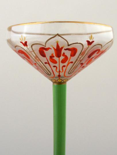 装飾ガラス「花文様リキュールグラス」