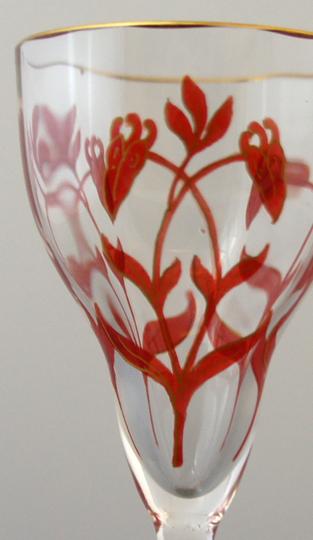 装飾ガラス「植物文リキュールグラス」