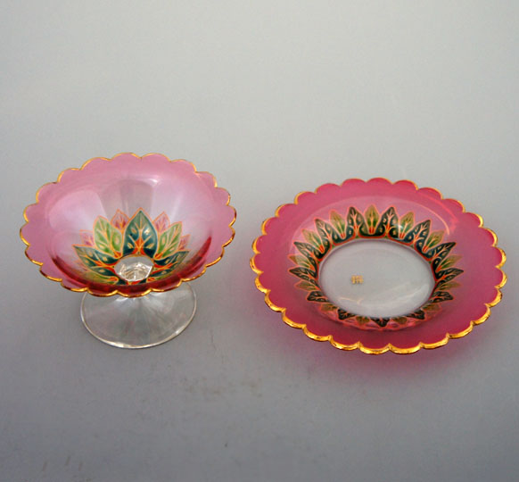 装飾ガラス「クープ&ソーサー」