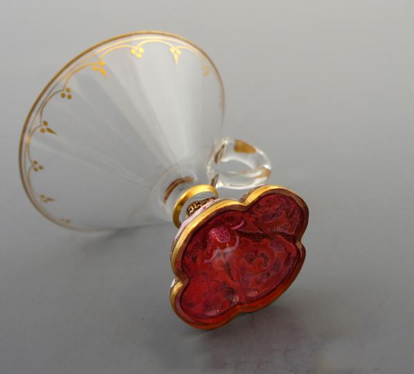 装飾ガラス「金彩エナメルクープ」
