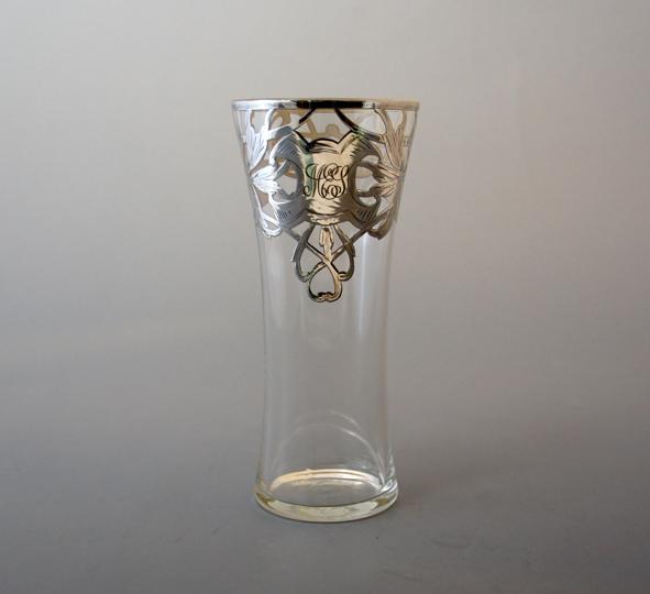 グラスウェア「花文様イニシャル タンブラー」