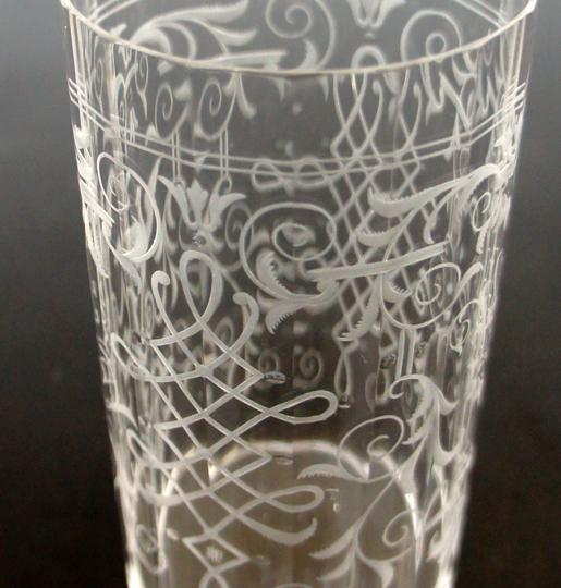 装飾ガラス「鳥文様ゴブレット」