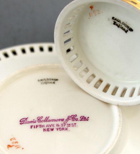 陶磁器「薔薇文様カップ&ソーサー」