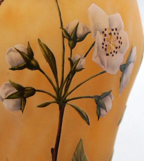 アールヌーヴォー「梨の花文花瓶」