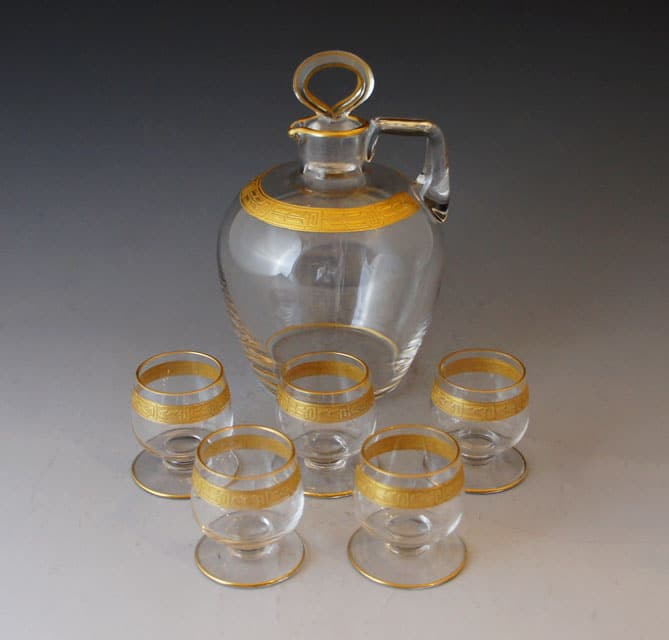 グラスウェア「金彩リキュールセット」