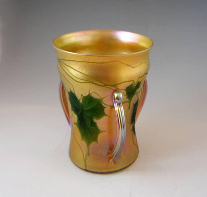 アールヌーヴォー「取手付 蔦文様花瓶」
