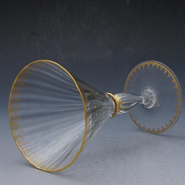 グラスウェア「フルール・ド・リス 金彩グラス 高さ16.5cm(容量160ml)」