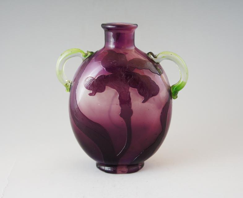 アールヌーヴォー「蜻蛉文 耳付花瓶」