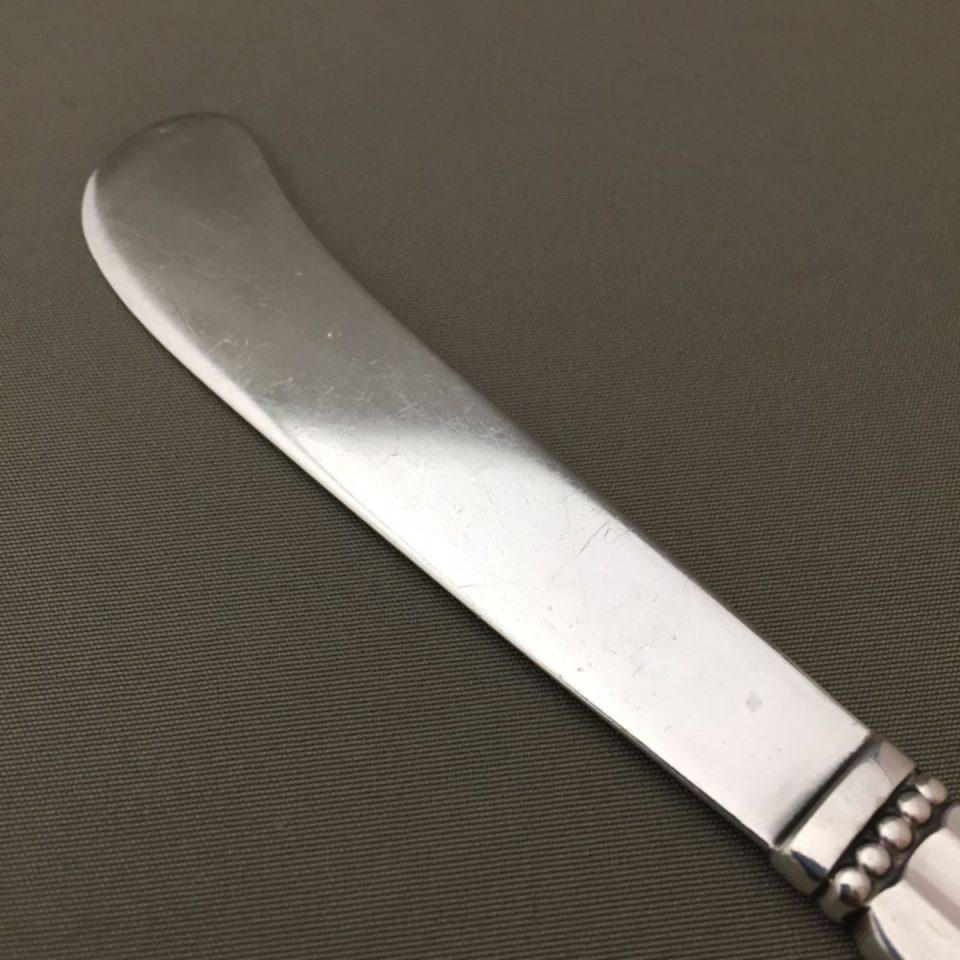 """シルバー「""""Acorn"""" バターナイフ 長さ15cm」"""
