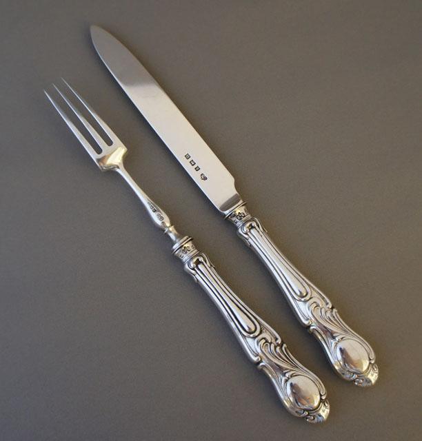 シルバー「フォーク&ナイフ12本セット」