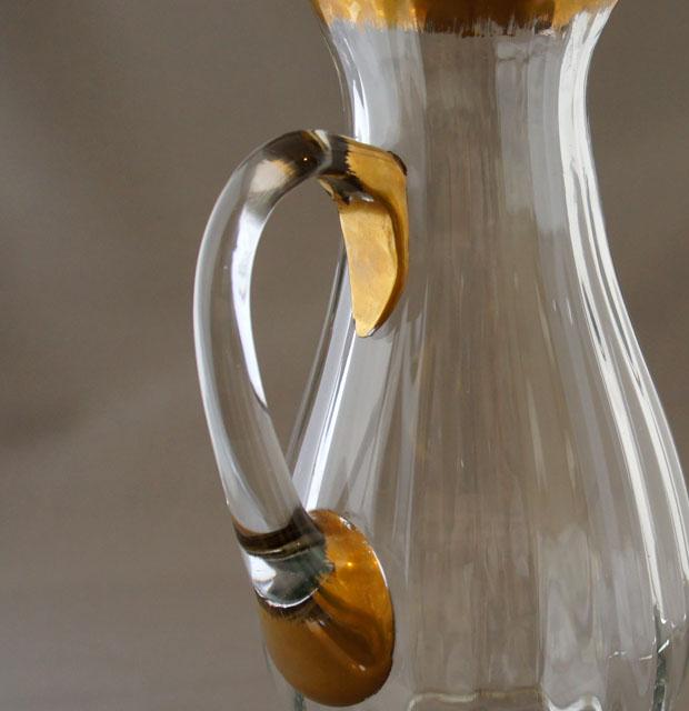グラスウェア「金彩ピッチャー」
