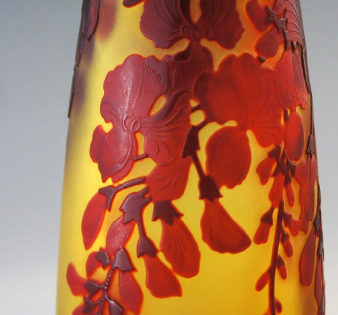 アールヌーヴォー「藤文様 花瓶」