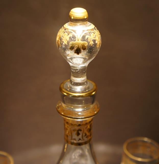グラスウェア「金彩装飾 リキュールセット」