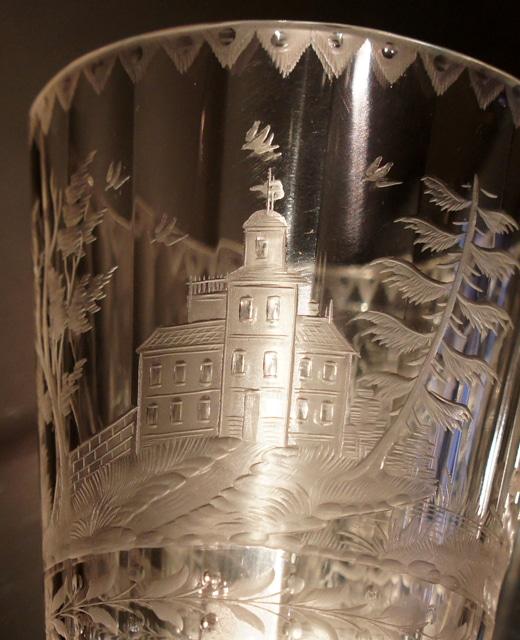 装飾ガラス「狩猟風景 ワイングラス」